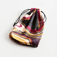 Vintage Remade Silky Printed Drawstring Pouch | Urban Outfitters