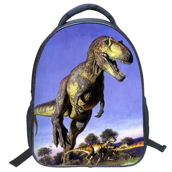 Vintage Kids Backpack Boys Cartoon Backpack Kid Book Bag Dinosaur Pattern Boy Girl Student Schoolbag Shoulder Satchel Gift