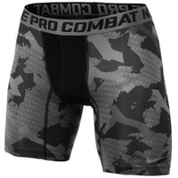 "Nike Pro Combat Compression Camo 6"" Shorts - Men's at Champs Sports"