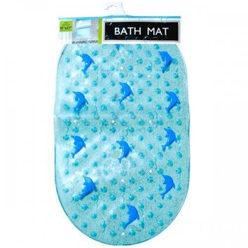 Rubber Duck & Dolphin Bath Mat With Suction Cups