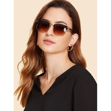 Brown Mirror Lens Sunglasses