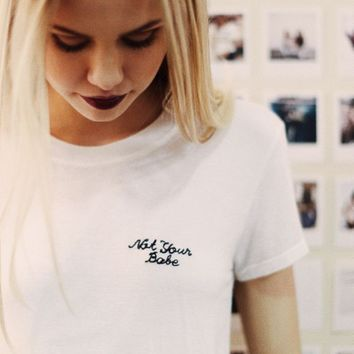 MARGIE NOT YOUR BABE EMBROIDERY TOP