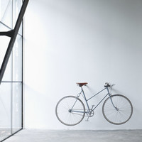 wooden bike rack, black