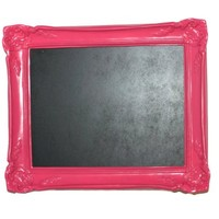 Pink Decorative Framed 11x13 Chalkboard with Writing Area Gift Wrapped.