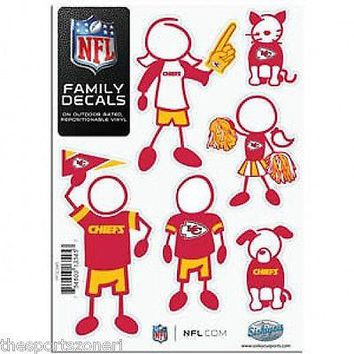 Kansas City Chiefs Family Decals Set of 6