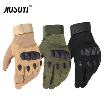 Military Tactical Paintball Airsoft Combat Shooting Bicycle Army Hard Knuckle Fingerless Full Finger Gloves Leather