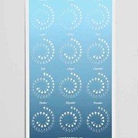 Margins Ombre 2015 Moon Phase Calendar- Teal One