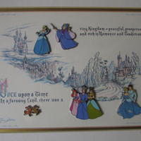 Disney Cinderella 50th Anniversary Pin Set- Framed and Matted Limited Edition - Signed and Numbered
