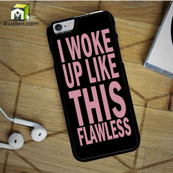 Woke Up Like This Beyonce Flawless Black Pink Album iPhone 6S case by Avallen