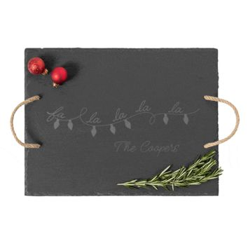 Personalized Fa La La Slate Serving Tray