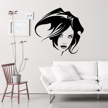 Wall Decal Fashion Beauty Salon Feminine Look Hairstyles Design Vinyl Decals Wedding Hair Salon Hairdressing Living Room Home Decor 3781