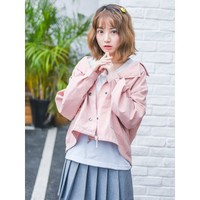 Casual Dusty Pink Jacket