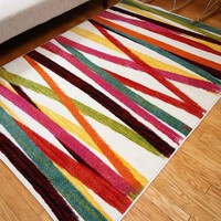 7007 Multi-Color Colorful Contemporary Area Rugs