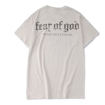 Fear Of God T Shirt Mens Justin Bieber Purpose Tour Shirts Mens Hip Hop For Streetwear Punk Rock Tees Tops - Ready Stock