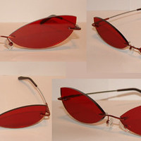 Red Cosplay Costume Sunglasses Glasses V1