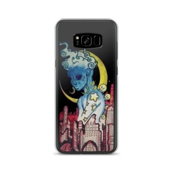 Red city blue alien phone case for Samsung Phone