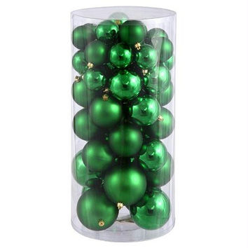 "50 Christmas Ball Ornaments -  2.4 "" -3 "" -4 ""  - Green"