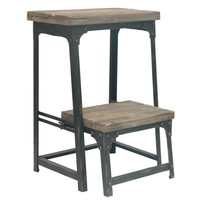 Crestview Collection Industrial Step Stool