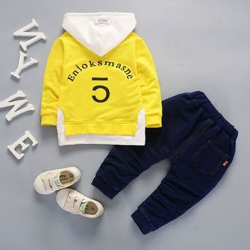 Baby Boy Girl Clothing Sets Casual Boy Clothes tracksuit for boys hooded coat Newborn Boy Clothes 1 2 3 4 Years