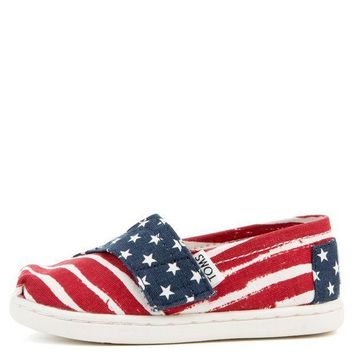 ESBI7E Tiny Toms Classics Americana Red, White, and Blue Flats