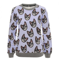 Anna Cat Printed Cotton-Jersey Sweatshirt