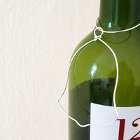 customizable christmas bell ornament gift tag wine bottle christmas tree decoration hostess gift