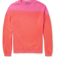 Raf Simons - Two-Tone Loopback Cotton-Jersey Sweater | MR PORTER