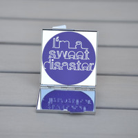 Gift idea for teens | I'm a sweet disaster | Demi Lovato compact mirror | Small gift idea