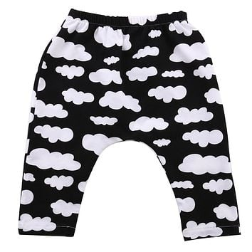 Baby Long Pants Kids Boys Girls Casual Sports Pants Elastic Cotton Waist Fully Trousers Harlan Pants Cloth Age 0-3T