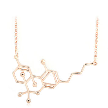 THC Molecule  Pendant Necklace