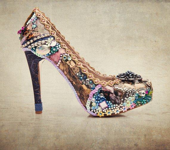 Collage Art sparkling prom and party shoes by tlccreationsuk