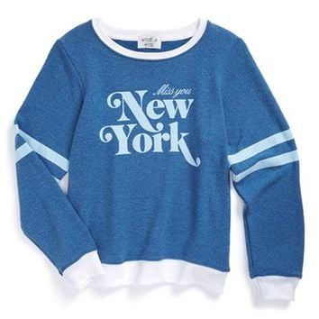 Girl's Wildfox 'Miss You New York - Baggy Beach Jumper' Sweatshirt