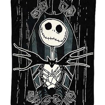 Jack Skellington Blanket - Nightmare Before Christmas - Spirithalloween.com