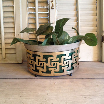 Retro Lighting Planter Sconce Art Deco Style