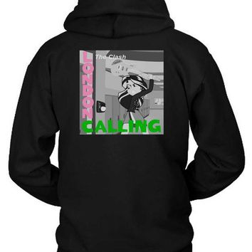 The Clash London Calling Cameleon Man Hoodie Two Sided