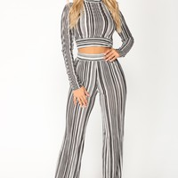 Henrietta Pants Set - Black/White