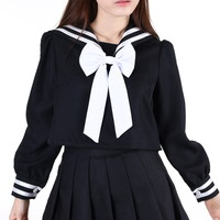 Glitters For Dinner — Pre Order - Winter Sailor Moon Inspired Top in Black (TOP ONLY!)
