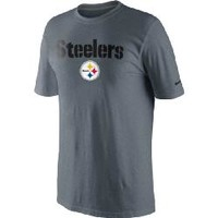 Pittsburgh Steelers Nike Base Authentic Logo Charcoal T-Shirt - Official Online Store