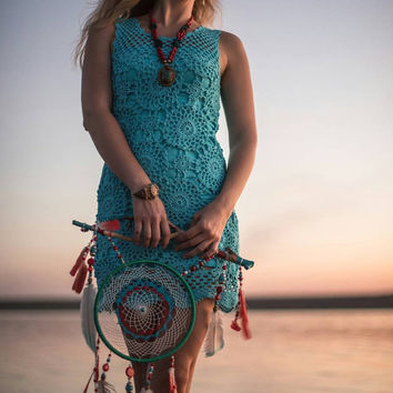Crochet dress, hand made dress