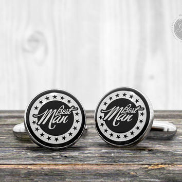 Best man cufflinks - Very elegant wedding day cuff links