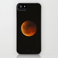 Total lunar eclipse. Red moon iPhone & iPod Case by Guido Montañés