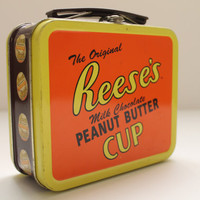 Vintage Reeses Peanut Butter Cup Miniature Lunch Box