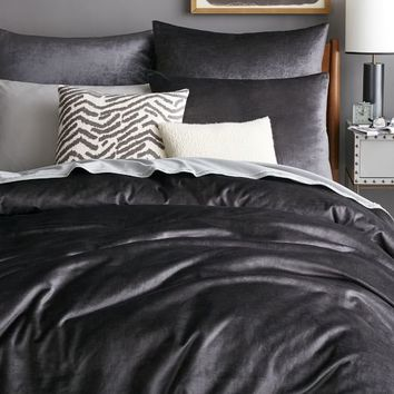 Washed Luster Velvet Duvet Cover + Shams