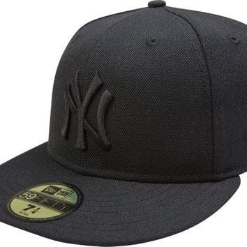 New York Yankees Black On Black 59FIFTY Cap / Hat