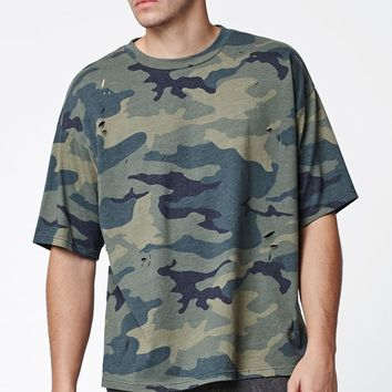 PacSun Wamo Camo Destroyed Relaxed T-Shirt at PacSun.com