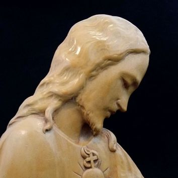 Wood Sacred Heart of Jesus Art