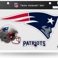 NFL New England Patriots Team Magnet Set