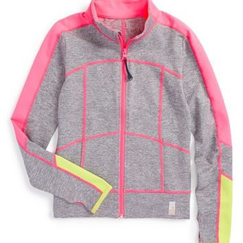 Girl's Zella Girl Racing Stripe Jacket