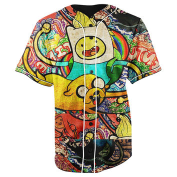 Adventure Time Button Up Baseball Jersey