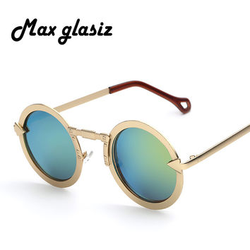 2014 New Unisex Hippie Shades Hippy 60S Coating Style Vintage Round Peace Sunglasses Eyewear Men and Women Round Sunglass
